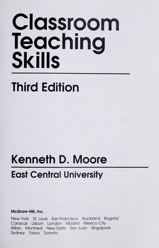 Download Classroom teaching skills