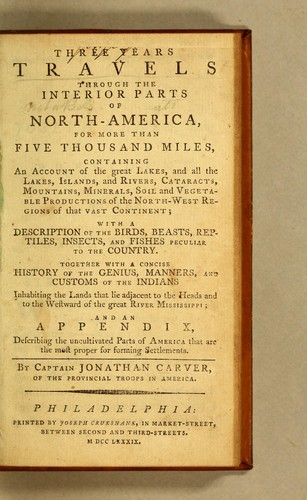 Download Three years travels through the interior parts of North-America, for more than five thousand miles