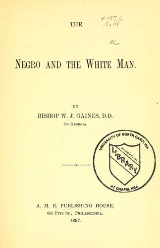 Download The negro and the white man