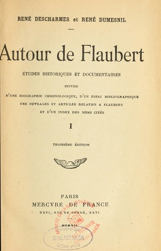 Download Autour de Flaubert