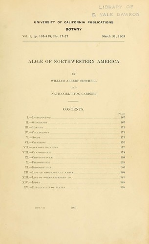 Download Algae of Northwestern America.