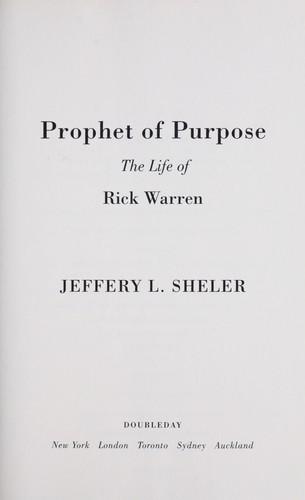 Download Prophet of purpose