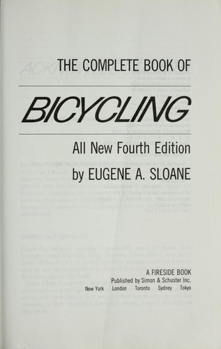 The complete book of bicycling