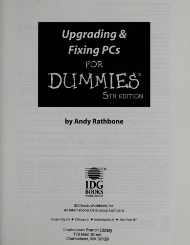 Upgrading & fixing PCs for dummies.
