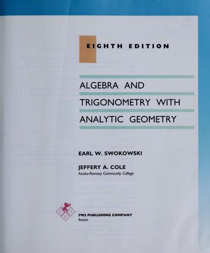 Algebra and trigonometry with analytic geometry.