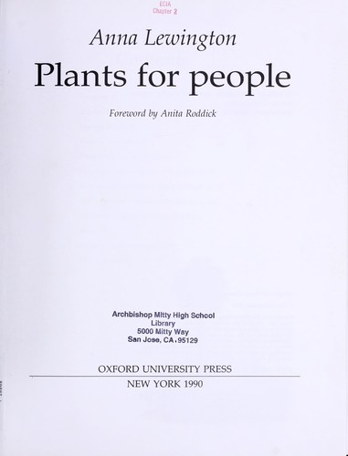 Download Plants for people