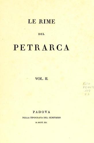 Le rime del Petrarca.