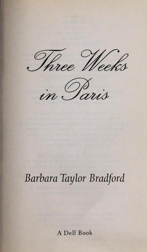 Three weeks in Paris