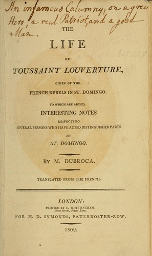 The life of Toussaint Louverture