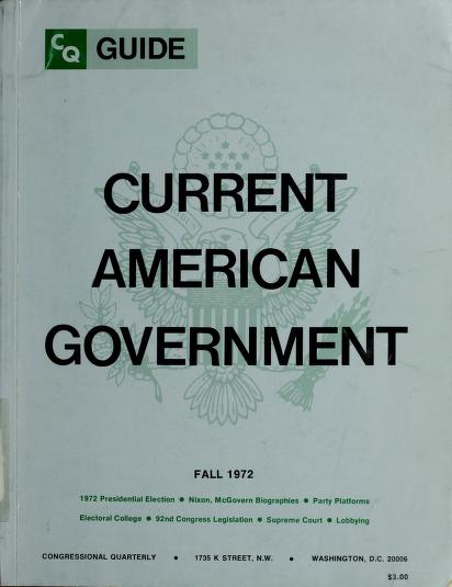 Current American Government- Spring 1974 by Robert A. Diamond