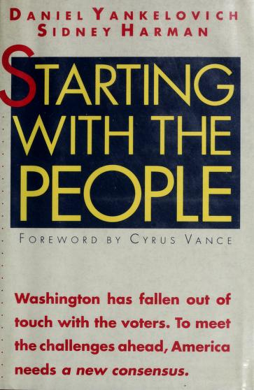 Starting with the people by Daniel Yankelovich