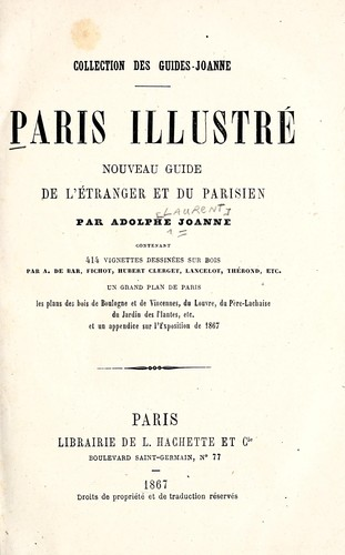 Paris illustré by Joanne, Adolphe Laurent