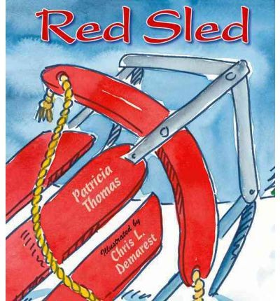 Red sled by Thomas, Patricia