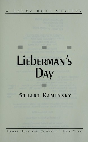 Lieberman's day by Stuart M. Kaminsky