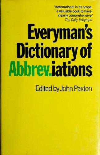 Everyman's dictionary of abbreviations